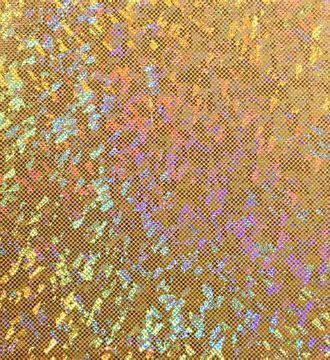 Gold shattered glass hologram spandex