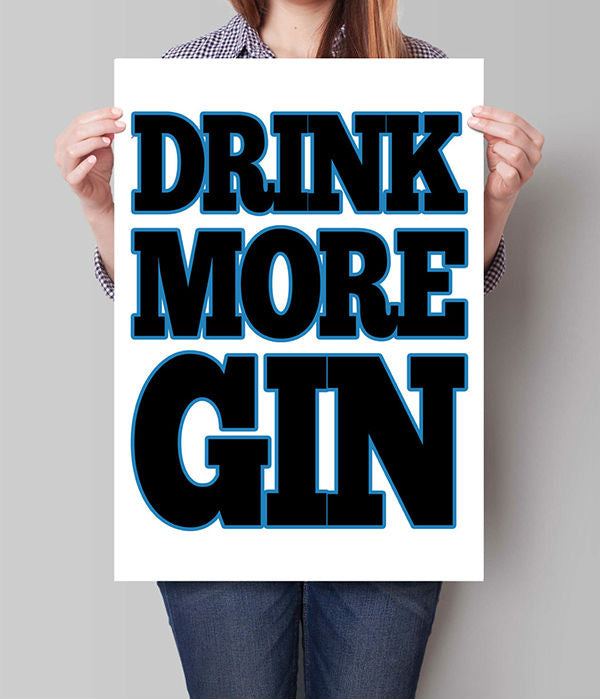 """Drink More Gin""  Canvas Wall Art"