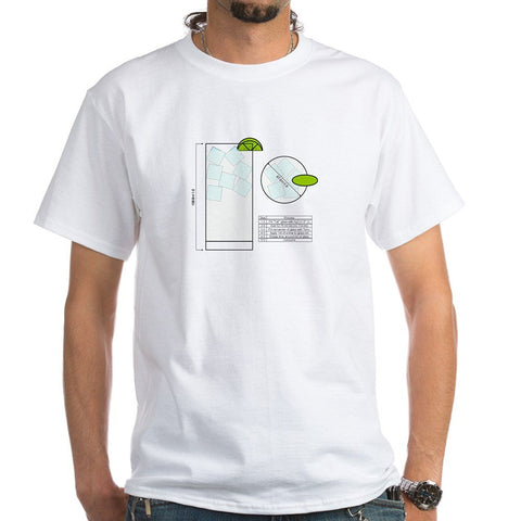 Gin Tonic Engineering T-Shirt (Unisex)  - 100% Cotton in White