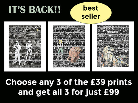 3 Prints for £99