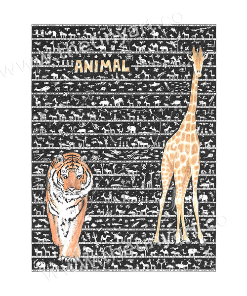 Animal Art Print - The Tiny Art Co