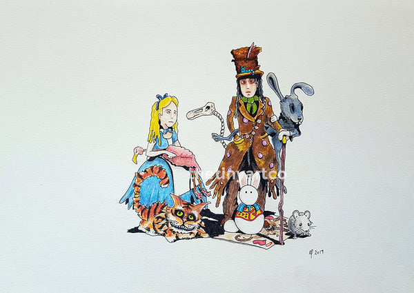 Alice in Wonderland Art Print - The Tiny Art Co