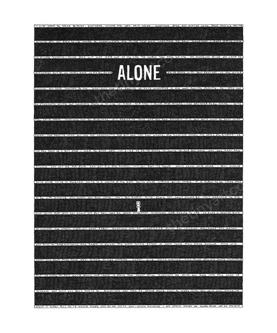 Alone Art Print - The Tiny Art Co