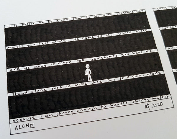 Alone M ACEO Print - The Tiny Art Co
