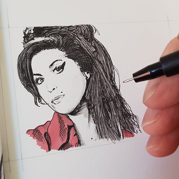 Amy Winehouse ACEO Print - The Tiny Art Co