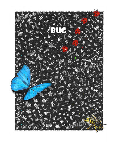 Bug Art Print - The Tiny Art Co