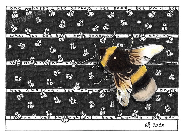 Bee Nice ACEO Print - The Tiny Art Co