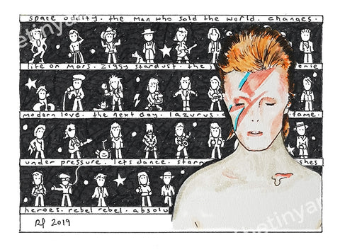 Bowie ACEO Print - The Tiny Art Co