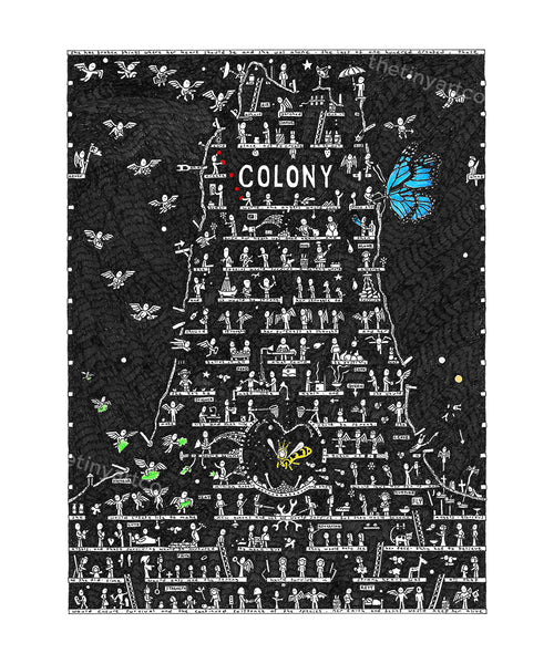 Colony Art Print - The Tiny Art Co