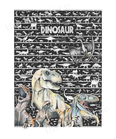 Dinosaur Art Print - The Tiny Art Co