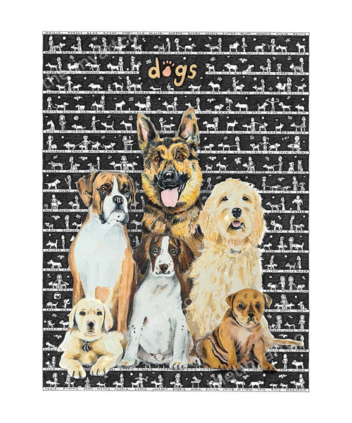 Dogs SUPERSIZE Art Print