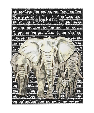 Elephant Art Print - The Tiny Art Co