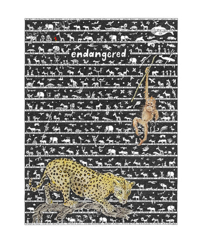 Endangered Art Print - The Tiny Art Co