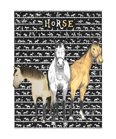 Horse Art Print - The Tiny Art Co