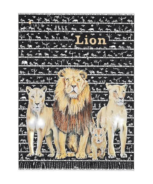 Lion Art Print - The Tiny Art Co