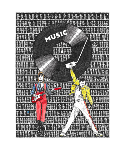 Music Art Print - The Tiny Art Co