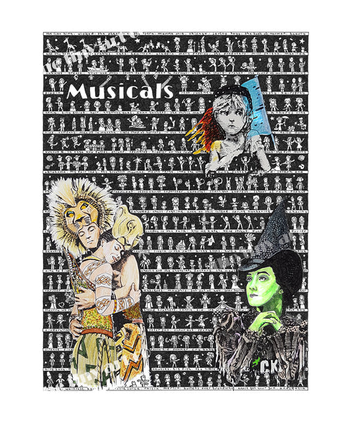 Musicals SUPERSIZE Art Print