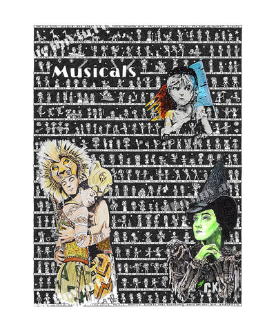 Musicals Art Print - The Tiny Art Co