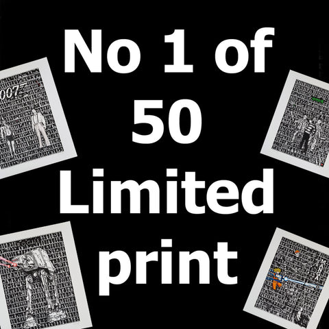 No 1 Limited Edition Print - The Tiny Art Co