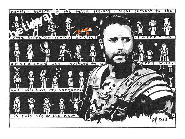 Gladiator ACEO Print - The Tiny Art Co