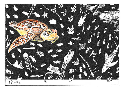 Turtle ACEO Print - The Tiny Art Co