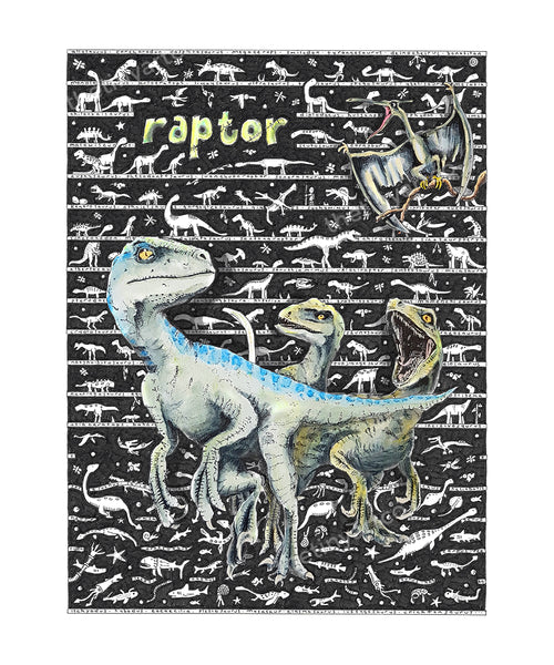 Raptor Art Print - The Tiny Art Co