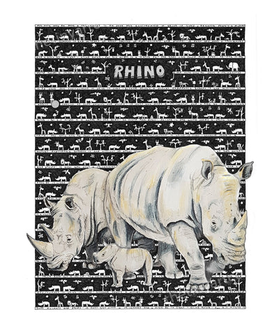 Rhino Art Print - The Tiny Art Co