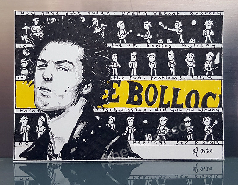 Sid Vicious ACEO Original Art - The Tiny Art Co