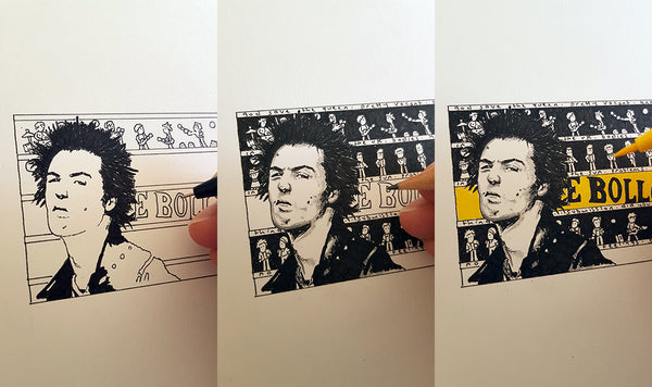 Sid Vicious ACEO Print - The Tiny Art Co