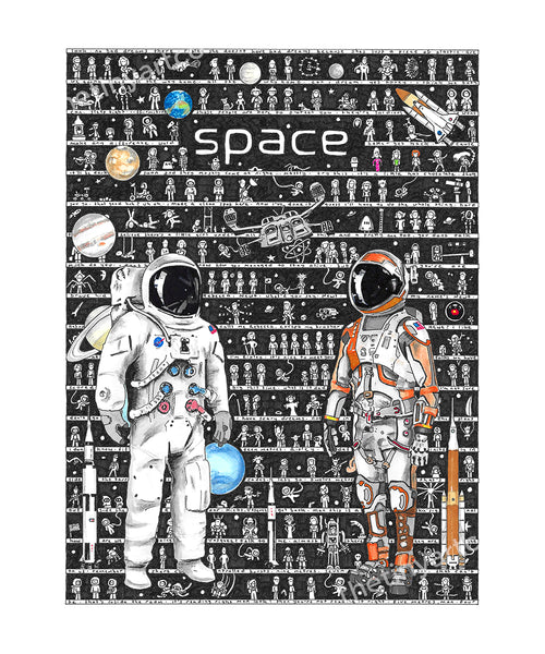 Space Art Print - The Tiny Art Co