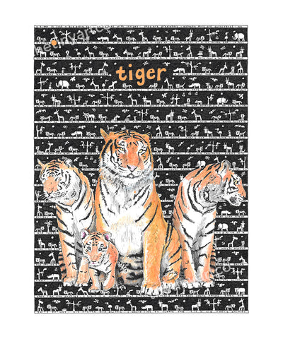 Tiger Art Print - The Tiny Art Co
