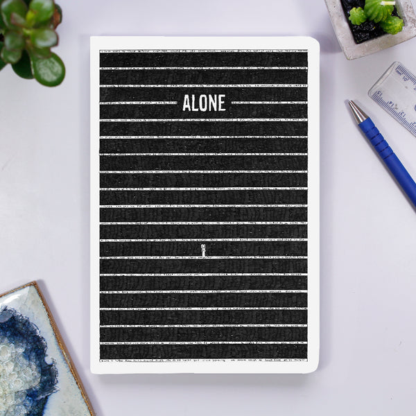Notebook - Alone - The Tiny Art Co