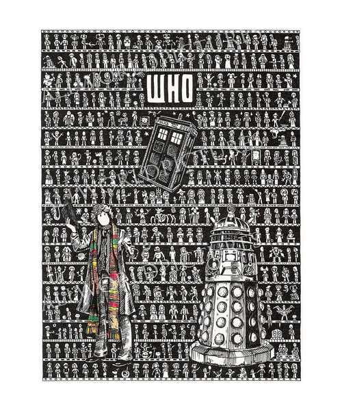 Doctor Who SUPERSIZE Art Print