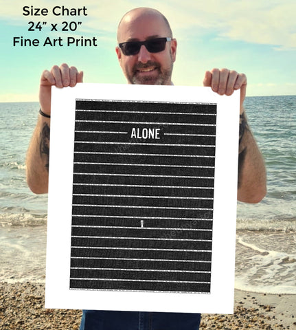 Alone SUPERSIZE Art Print