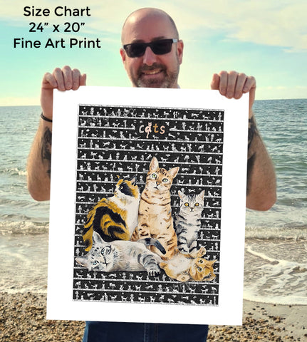 Cats SUPERSIZE Art Print