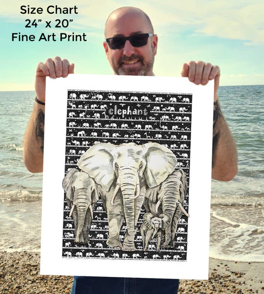 Elephant SUPERSIZE Art Print