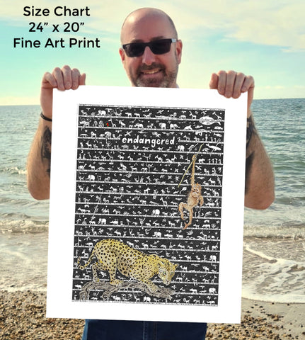 Endangered SUPERSIZE Art Print