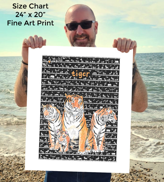 Tiger SUPERSIZE Art Print