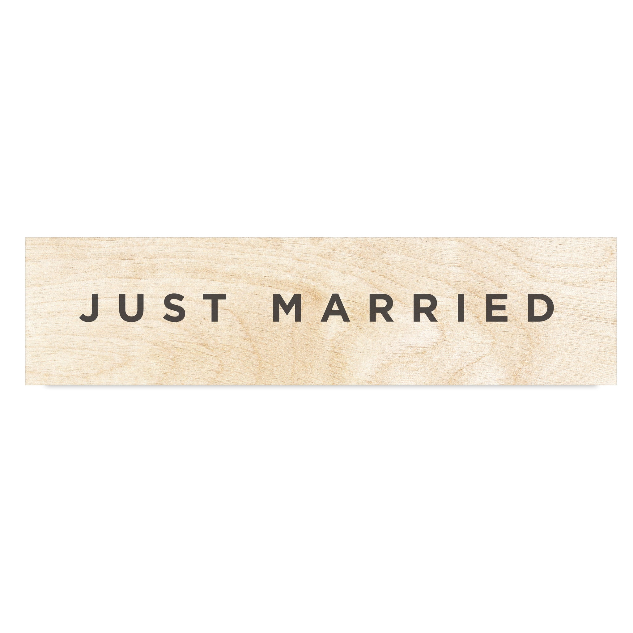 just married wooden wedding signage
