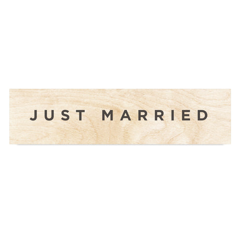 Just Married Wooden Wedding Sign