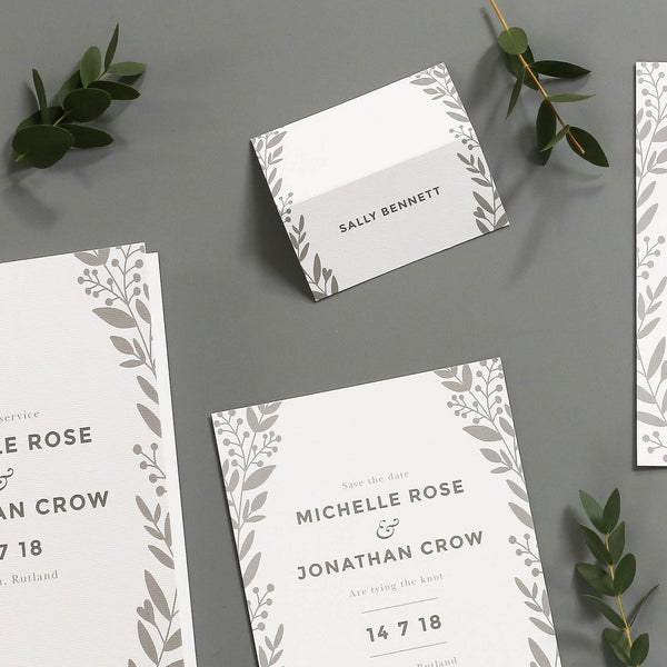 Nordic Foliage Table Place Cards