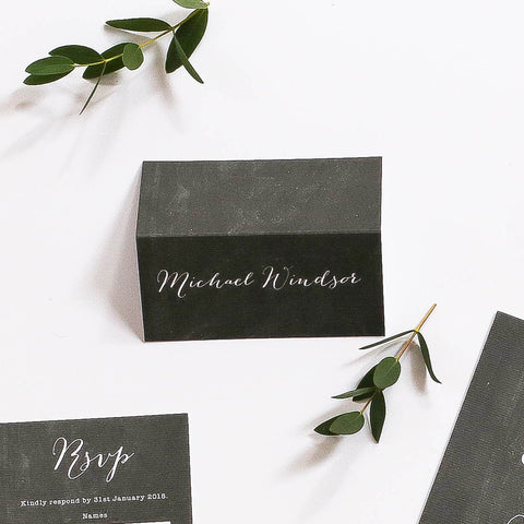 Chalk Board Inspired Name Place Cards