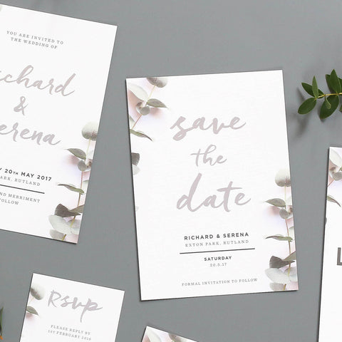 Eucalyptus Wedding Save The Dates
