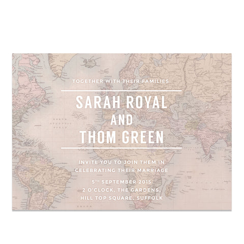 Globe Trotter Wedding Invitations