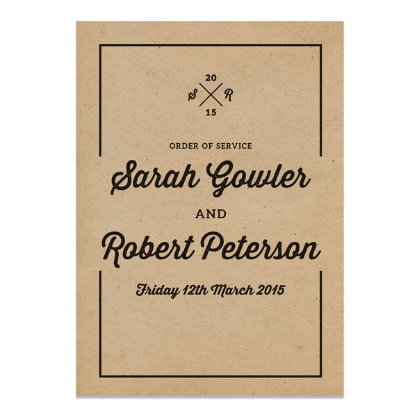 Letterpress Kraft Wedding Invitations