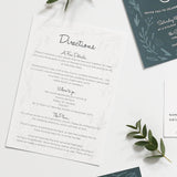 Midnight Hedgerow Wedding Information Cards