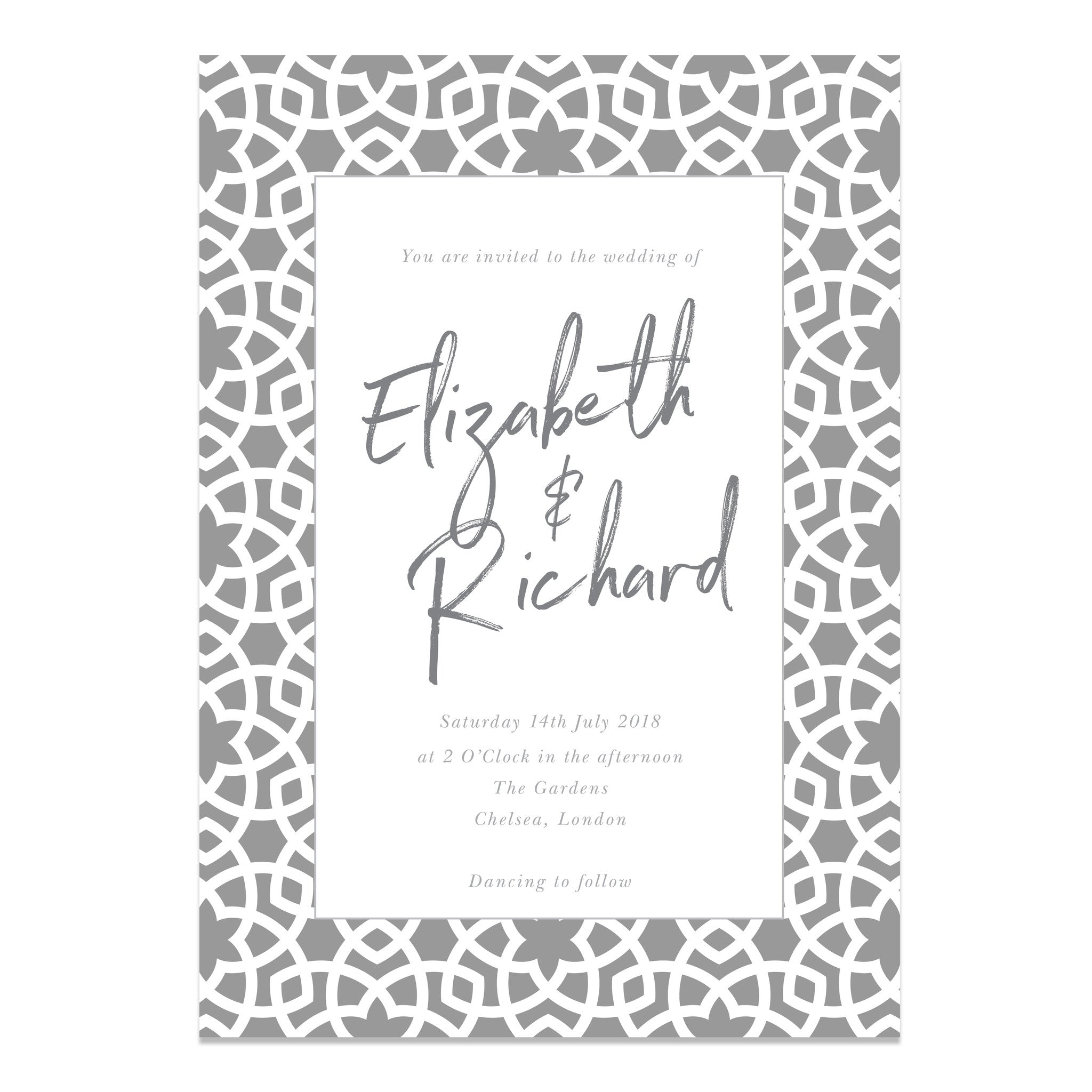 Moroccan Vibes Wedding Invitations - Hand lettered Stationery | Old ...