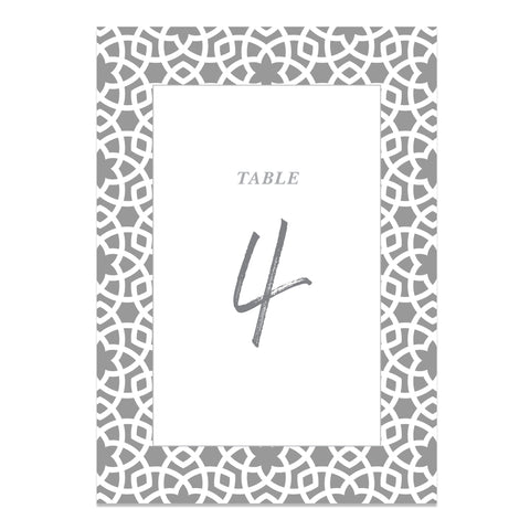 Moroccan Vibes Wedding Table Numbers