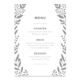 Nordic Foliage Wedding Menus