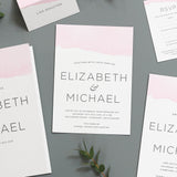 Ombre Water Colour Wedding Invitations